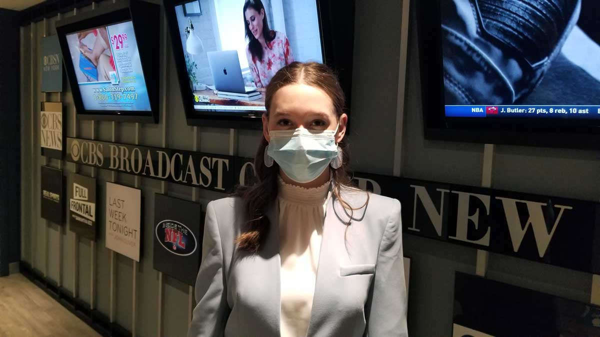 Alina Morse at CBS New York City Studio for the Dr. Oz Show with Barbara Corcoran